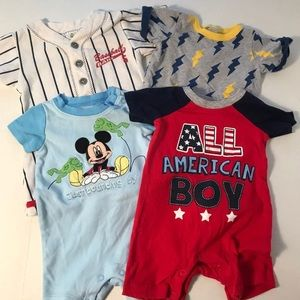 ~~~4 for $10~~~Cute Boys Onesie Lot
